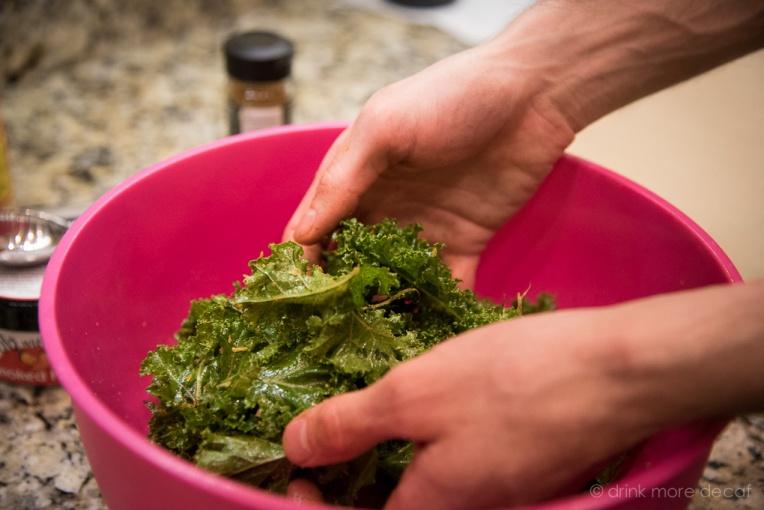 Mixing Kale