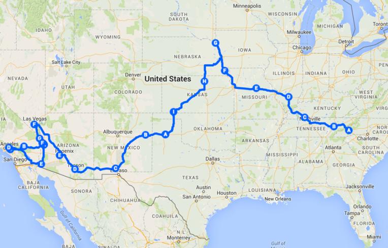 2015 - 3872 Miles Traveled